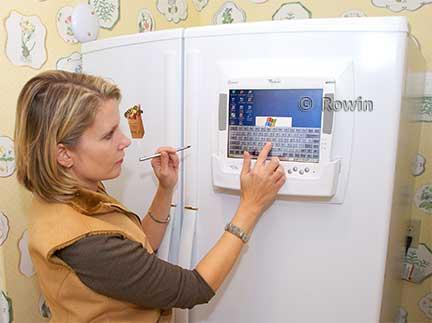Refrigerator in Interet Wired Kitchen