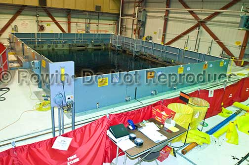 nuclear power plant photo of storage of spent fuel rods