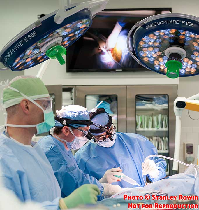 Photo of brain Surgery in the Mass General Hospital Operating Room