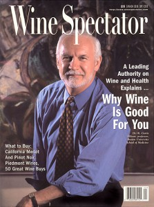 R. Curtis Ellison, M.D., Cover Photo, Wine Spectator Magazine Cover