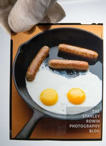 Photo of Eggs and Sausage in Frying Pan