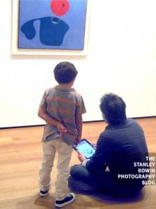 Sketching art with iPad at MOMA
