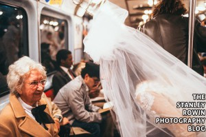 Running of the Brides on Subway