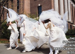 Running of the  Brides in Harvard Square