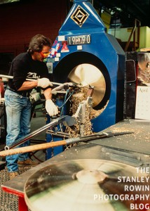 Working the lathe at the Ziljian Cymbal Factory