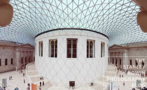 Photo of Great Court in the British Museum Interior Panorama showing glass ceiling