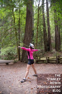 Yoga amongst the Redwoods at Armstrong Redwoods State Natural Reserve,