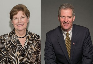 N.H. United States Senator Jeanne Shaheen, Scott Brown