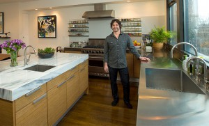 Ken Oringer in Kitchen at home