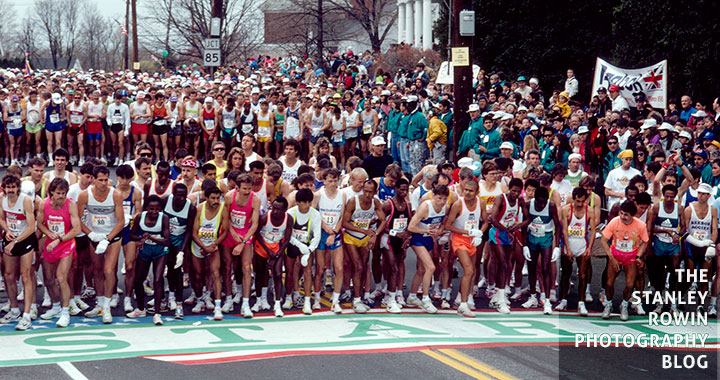 Start of Boston Marathon, Hopkinton, MA