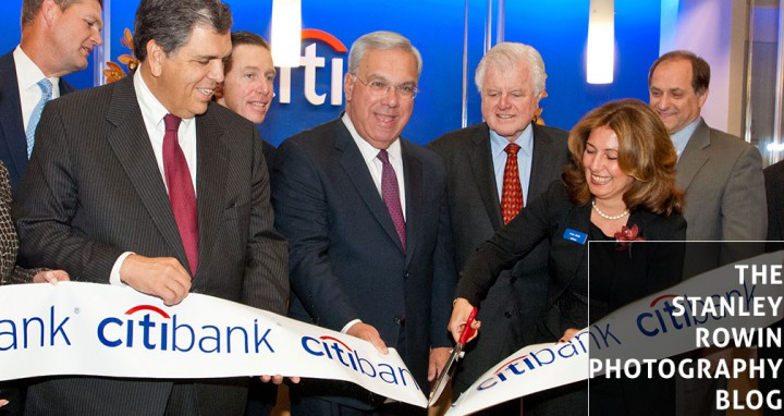 Citibank Grand Opening Boston with Boston Mayor Thomas Menino and Ted Kennedy
